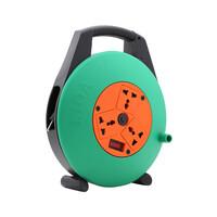 Ổ cắm điện quay tay- cuộn dây kín kiểu xách tay loại 5m 15A LiOA XTD5-2-15A