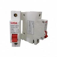 Aptomat loại 1 cực dòng điện 06A LiOA MCB1006/4,5
