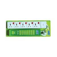 Ổ cắm di động có cầu chì & CB bảo vệ phích cắm 3 chấu vuông kiểu Anh. AM5SFB