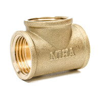 Tê đồng ren trong 15mm (1/2inch) Minh Hòa TDRT15
