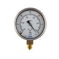 RS PRO Vacuum Gauge, Maximum Pressure Measurement 0bar, Gauge Outside Diameter 100mm, Connection Size BSP G 3/8 (188986)