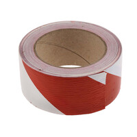 RS PRO Red/White Floor Tape, 50mm x 33m (1719700)