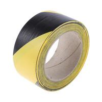 RS PRO Black/Yellow PVC Floor Tape, 50mm x 33m (1971012)