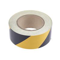 RS PRO Black/Yellow Reflective Tape 50mm x 25m (2197897)