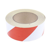 RS PRO Red/White Reflective Tape 50mm x 25m (2197910)