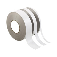 RS PRO White Double Sided Paper Tape, 12mm x 50m (1254302)