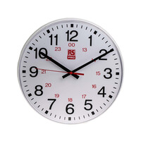 RS PRO White Wall Clock, 300mm (7064786)