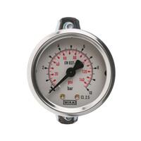 RS PRO Panel Mount Pressure Gauge Back Entry 10bar, Connection Size G 1/8 (777075)