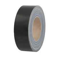 RS PRO Black Duct Tape, 50mm x 50m, 0.26mm Thick (1769807)