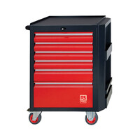 RS PRO 6 drawer Steel WheeledTool Chest, 975mm x 450mm x 710mm (1253045)
