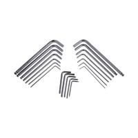 RS PRO 19 pieces Hex Key Set L Shape 2 mm, 2.5 mm, 3 mm, 4 mm, 5 mm, 5.5 mm, 6 mm, 6.5 mm, 8 mm, T10, T15, T20, T25, T6 (2483075)