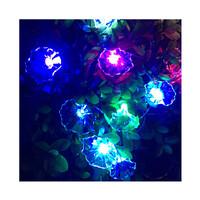Dây đèn LED trang trí dài 5m, 20 bóng hình hoa trắng có đổi màu dùng pin