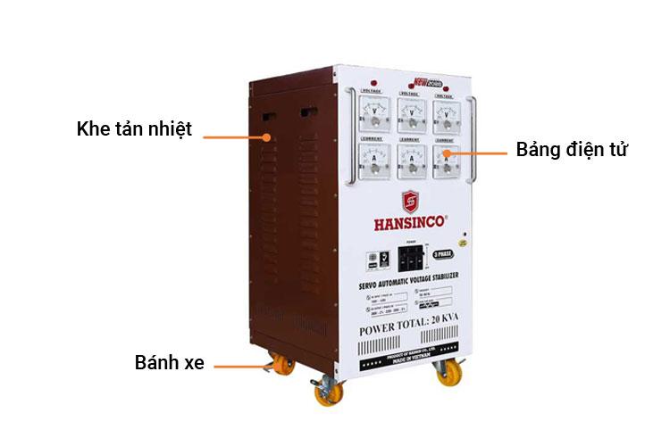 Máy ổn áp Hansinco NEW 2088 - 20KVA - 3P