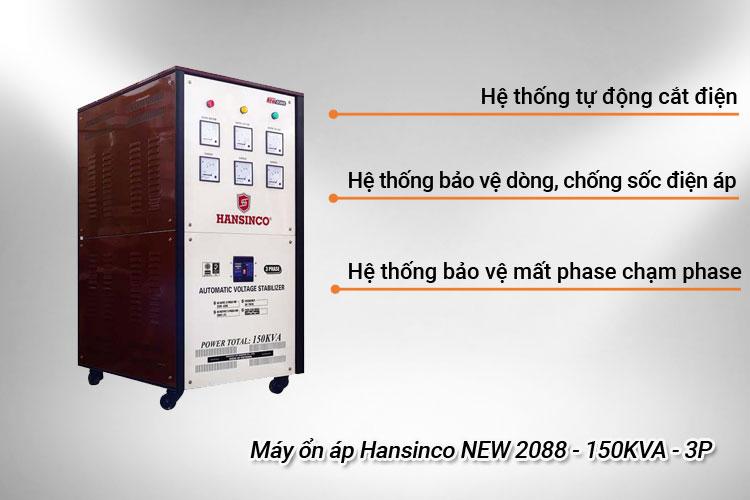Máy ổn áp Hansinco NEW 2088 - 150KVA - 3P