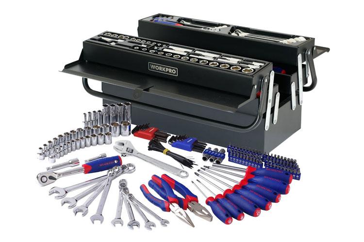Bộ dụng cụ cơ khí 183 chi tiết Workpro W009038